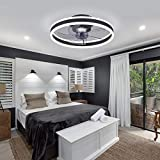 Ceiling Fan with Lights, 20' Modern Invisible Blades Ceiling Fan Light...