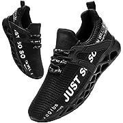 BUBUDENG Herren Laufschuhe Straßenlaufschuhe Sportschuhe Turnschuhe Outdoor Leichtgewichts Sneaker Freizeit Atmungsaktive Fitness Schuhe