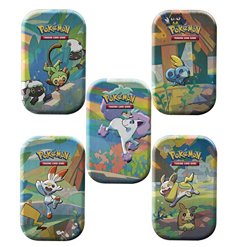 Pokemon Galar Pals Mini Tin 5 Pack- All 5 Characters! 10 Booster Packs...