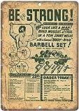 OSONA Barbell Set Garage Gym Wall Art Rogue FitnessVintage Metal Sign 8 x 12 pulgadas