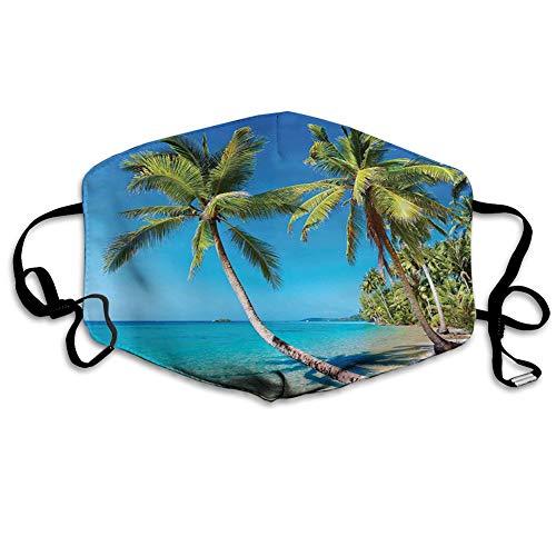 Cómoda cubierta a prueba de viento, Kood Island Tailandia viaje vacaciones cielo viaje destino en Asia, decoraciones faciales impresas para adultos