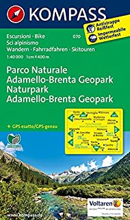Wanderkarte n. 70. Parco Naturale Adamello-Brenta Geopark (CARTE DE RANDONNEE - 1/40.000)