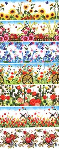SET .. Blumen..(17,38,30,36,94) für 35 Eier. Gekochte, Ausgeblasene,Styropor, Kunststoff Eier