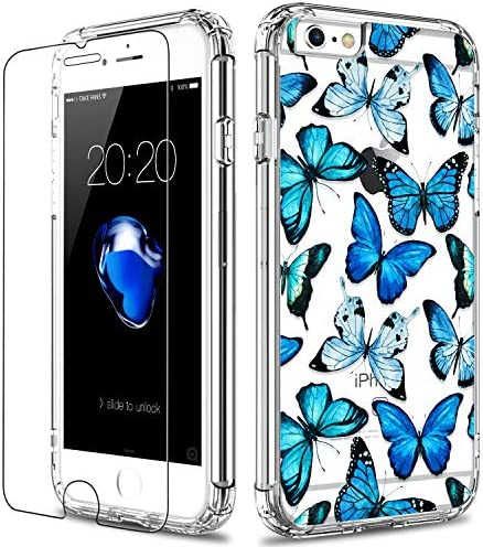 LUHOURI iPhone 6 Case iPhone 6s Case with Screen Protector Clear with Floral Flower for Girls product image