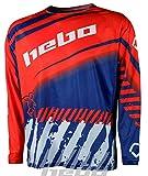 HEBO Stratos Camiseta Enduro-Cross, Adultos Unisex, Naranja, XL