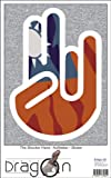 THE SHOCKER HAND - Wandtattoo / Wandaufkleber/ Aufkleber - weißer Umriss mit Fahne / Flagge - Taiwan-Taiwan 100 cm