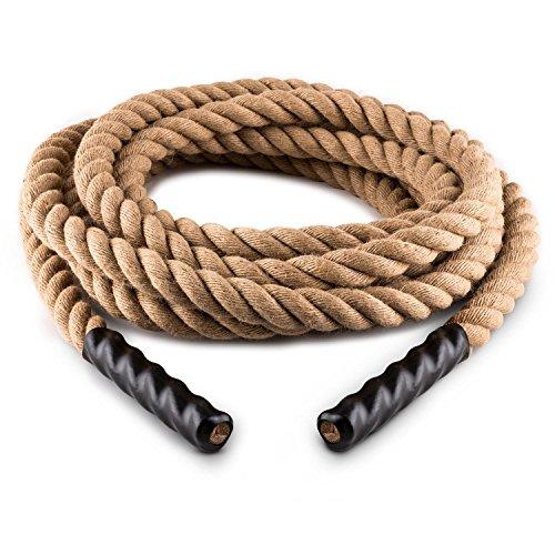 Capital Sports H-Serie - Battle Rope, Power Rope, Fitness Rope, Schwungseil, Tauziehen, Material: Hanffaser, dreischlägig, Stahlhaken, Modell: 15m