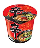 Nongshim Shin Spicy Ramen Instant Gourmet Cup Noodle 2.64 Ounce (Pack of 6)
