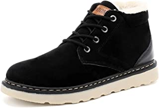 Sunny&Baby Men's Fashionable Snow Boots Casual Comfortable Classic Sports Style Winter Faux Fleece Inside Home Shoes Durable (Color : Black, Size : 6.5 UK)