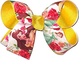DS-221M Medium Beauty and the Beast Belle Double Layer Overlay Bow