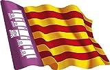Artimagen Pegatina Bandera Ondeante Islas Baleares 80x60 mm.