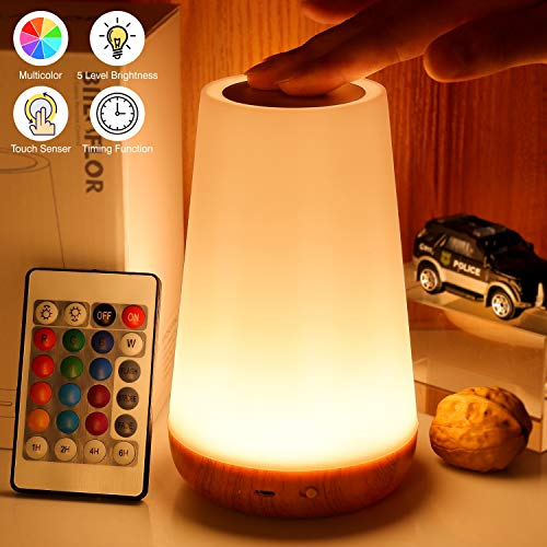 Biilaflor Touch Lamp, Portable Table Sensor Control Bedside Lamps with Quick USB -