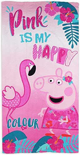 Asciugamano Pink Peppa Pig in microfibra