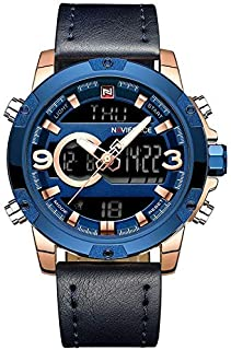 Wrath CEO's Choice Rose Gold & Blue Analog & Digital Watch for Men's & Boys (NF9097_RG/BE/BE).