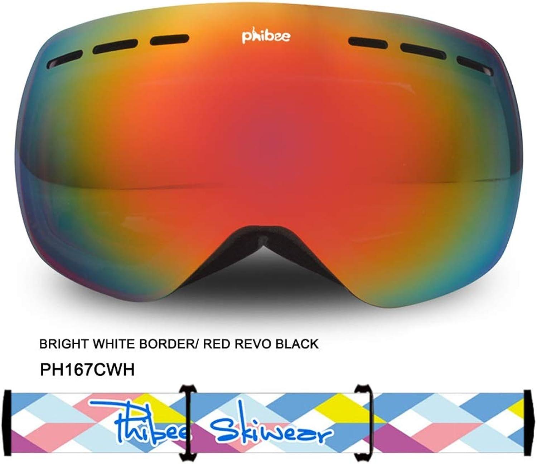 Wagsiyi Skibrille Kinderschutzbrillen Große sphärische Doppel-Anti-Fog-Skibrille True Rove Mountain Goggles Windproof Eye Protection Wind Und Nebel (Farbe   Bright Weiß) B07LF9Q989  Sehr gelobt und vom Publikum der Verbraucher geschätzt