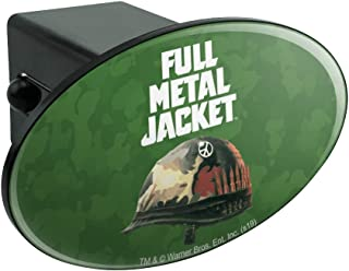 Graphics and More Full Metal Jacket Born to Kill Oval Tow Trailer Hitch Cover Plug Insert 2 Inch Receivers Black OTH.200.WBGAM033.Z004807_8
