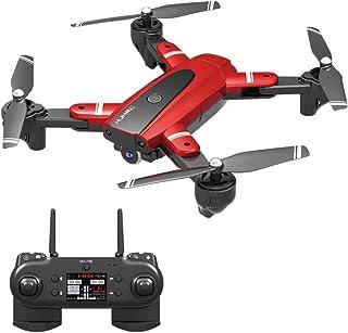 L130 Pro Drone com camera HD Profissional Siga me WiFi FPV 1080P - Camera 1080P Vermelho 3 Baterias 66 Minutos