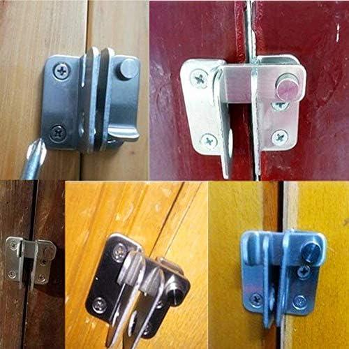 YUE QIN Cerrojo Inoxidable Pestillos de Puertas,Cerradura Antirrobo Peque/ña Cerradura para Puertas de Inodoro Muebles y Puertas de Mascotas Ventanas,Abierto a la derecha