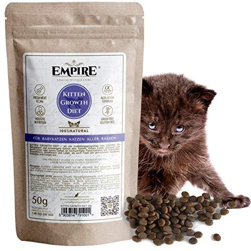 Empire Baby Trockenes Katzenfutter | 50g | Premium Getreidefreies Trockenfutter für Trächtige & Stillende Katzen | hoher Fleischgehalt | 100% Natürlich & Glutenfrei | GVOFrei