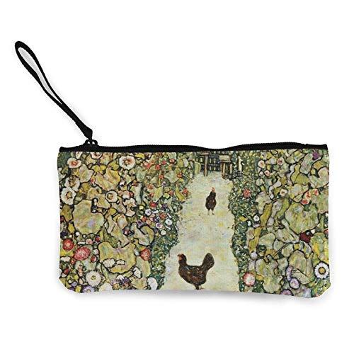 XCNGG Monederos Bolsa de Almacenamiento Shell Garden with Roosters Canvas Coin Purse with Zipper Coin Wallet Multi-Function Small Purse Cosmetic Bags For Women Men