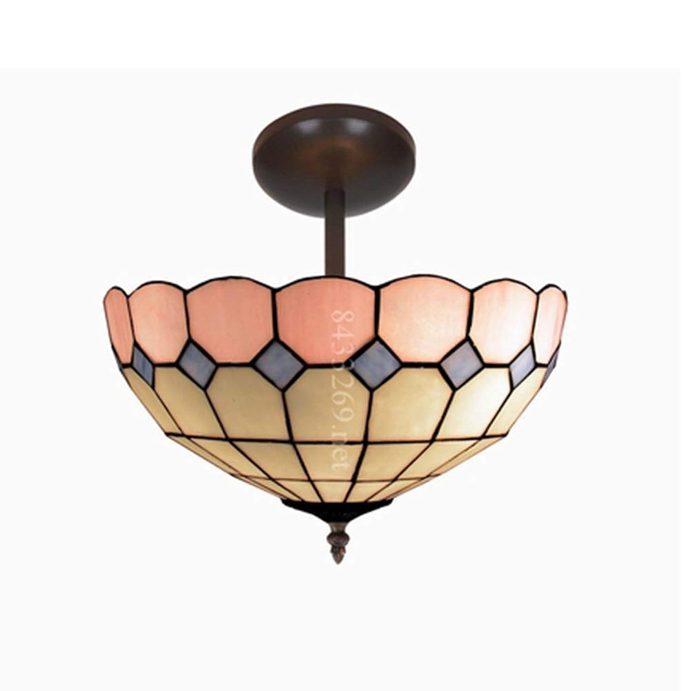 イブニング革新ビュッフェ手作りアートライト、ホームデコレーションティファニースタイル花天井ランプ