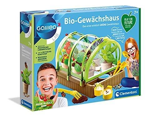 Clementoni 59237 Galileo Lab – Bio-Gewächshaus, Garten-Set aus 100 {cc918013a78946a9bfc25173e2d0ce94471a09a5411bbda647c73d46f6fbe062} recyceltem Material, Pflanzkasten mit Samen & Werkzeugen, Biologie Spiel für Kinder ab 8 Jahren, ideal zu Weihnachten