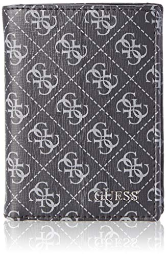 Guess - Manhattan Logo, Carteras Hombre, Negro (Black), 1x10.3x9 cm (W x H L)