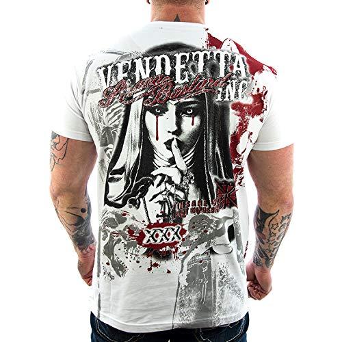 Vendetta Inc. Shirt Strange Bastard 1052 weiß Männer Herren T-Shirt Streetwear Tattoo (M)