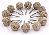 Roorkee Instruments 12 Nautical Twisted Decorative Jute Rope Doorknobs, Rustic Rope Knot Drawer Pull and Push, Furniture Handles/Knobs, Cabinets, Wardrobes, Cupboards, Drawer, Nautical Hardware Décor