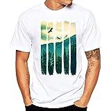 Yvelands imprimió Tees Hombre Guapo O-Cuello Ocasional Slim Camiseta Blanca Camisas Top Blusa Party Beach Summer, Cheap Liquidación! (Blanco, XXL)