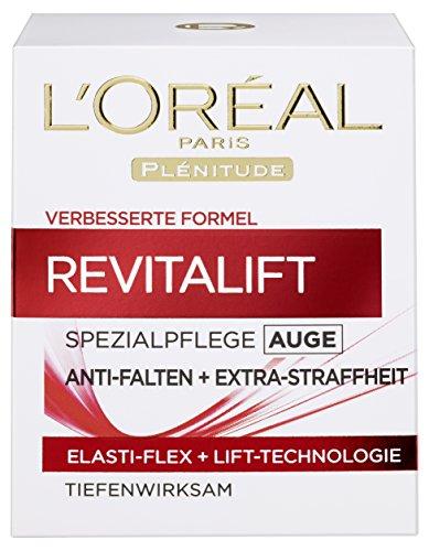 L'Oréal Paris Revitalift Augenpflege Anti-Falten, mildert Augenfalten und versorgt die Haut mit Feuchtigkeit, 15 ml