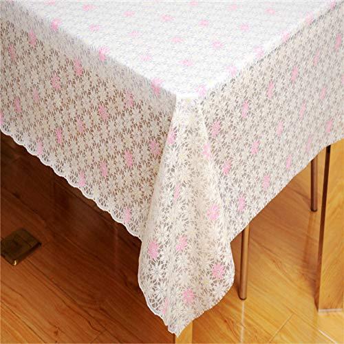 YOUYUANF PVC Bronzing Tischdecke Handtuch Tischdecke wasserdichte Spitze wasserdicht und ölbeständig137x137 cm
