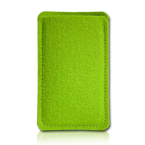 sw-mobile-shop Filz Style Wiko Riff Premium Filz Handy Tasche Hülle Etui passgenau für Wiko Riff - Farbe grün