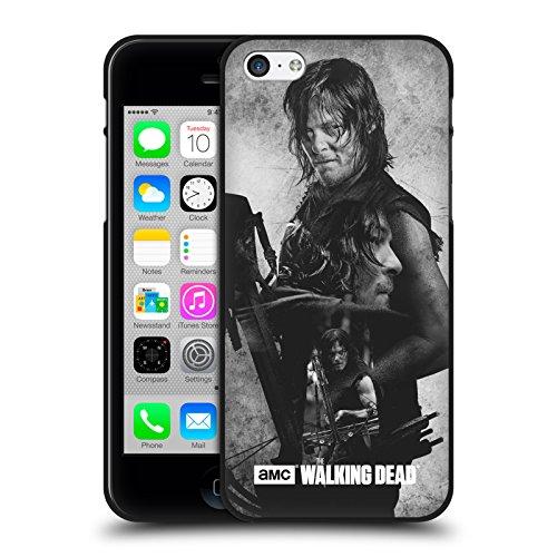 Head Case Designs Oficial AMC The Walking Dead Daryl Doble Exposición Funda de Gel Negro Compatible con Apple iPhone 5 / iPhone 5s / iPhone SE 2016