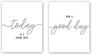 CHDITB Unframed Inspirational Quote&Saying Art Print,Today is A Good Day,for A Good Day Wall Art Poster,Set of 2(8