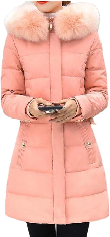 Desolateness Womens Winter Lightweight Down Coat Hooded Packable Down Jackets Outwears