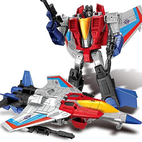 AIYL Starscream Krieger Transformers Spielzeug-Action-Figur Puppe Movie Version Auto-Roboter-Handbuch Modell
