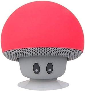 Inwa 2019 New Fashionable Cartoon Mushroom Hairstyle Wireless Bluetooth Speakers Mini Hands Free Cute Christmas Gift High Quality Brand - Red