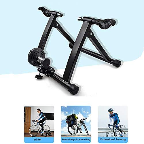 LJLYL Home Trainer vélo d'intérieur Formateur, Exercice d'entraînement Support Vélo, résistance magnétique Pliable équitation pour 26-28 Pouces VTT vélos de Route