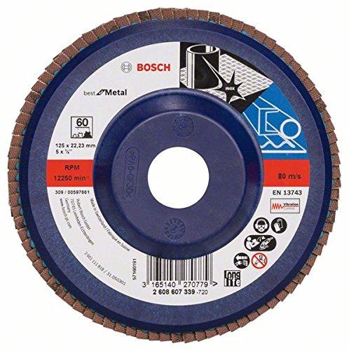 Bosch DIY slijpschijf (voor haakse slijper, verschillende materialen, rechte uitvoering, Ø 125 mm) Korrelgrootte 60