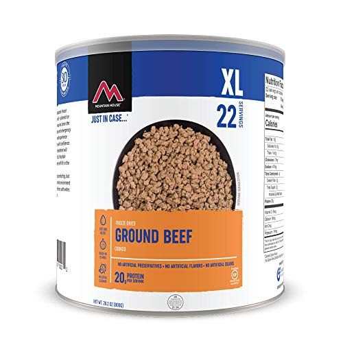 Mountain House Cooked Ground Beef   Freeze Dried Survival & Emergency Food   #10 Can   Gluten-Free