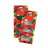 Gift Boutique 600 Christmas Ornament Hooks Green and Silver Wire 1.25