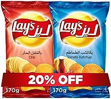 Lay's Ketchup170g + Lay's Chili 170g, Potato Chips