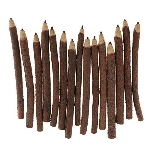 Sharplace 15 Stück Zweig Und Zweig Graphit Bleistifte Dekorative Holz Bleistift Handwerk Geschenk