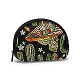 Mexican Culture Human The Arts Mujeres Niñas Shell Cosmético Maquillaje Bolsa de Almacenamiento Monedas de Compras al Aire Libre Monedero Organizador