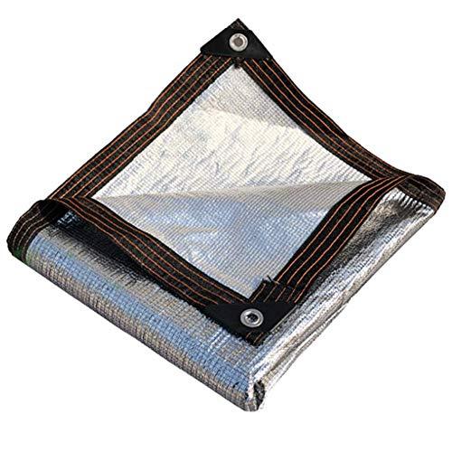 YCSD Tissu D'ombrage en Aluminium,Ombrage 99% Renforce ÉPaissir Voile Ombrage, Serres Filet Coupe-Vent avec Oeillets,pour La Couverture VéGéTale/Serre/Jardin/Pergola(Size:2x5m)