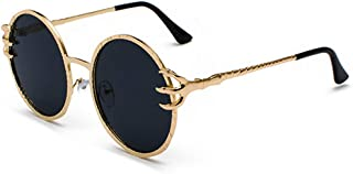 Sunglasses Fashion Luxury Women Men Sunglasses Claw Metal Frame Round Ocean Piece Eyeglasses for Driving Travel Holiday Shopping Outdoor UV Protection Goggles Eyewear