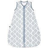 emma & noah Premium Baby Schlafsack, Flauschig Weich, Bequem & Atmungsaktiv, 100% natürliche Baumwolle, Großzügige Bewegungsfreiheit, 2.5 TOG (Rauten Blau, 9-36 Monate / 90 cm)