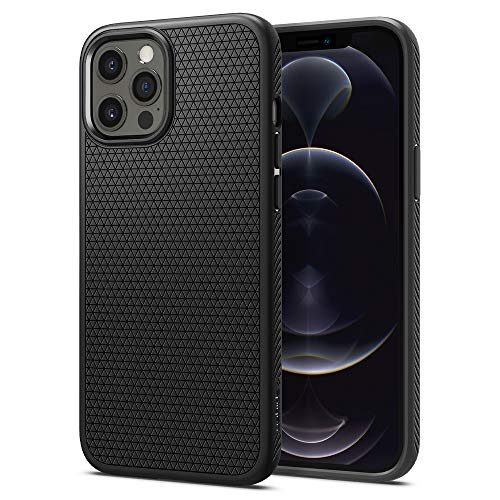 Spigen Liquid Air Back Cover Case Designed for iPhone 12 | iPhone 12 Pro - Matte Black