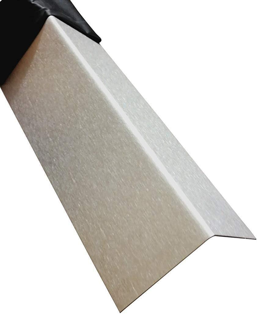 Kantenschutzleiste,kreativ bauen 200cm Edelstahl L-Profil Schenkel 9,5x5 cm Edelstahl Winkel 2000mm 95x50 mm geb/ürstet V2A 0,8mm stark Winkelblech